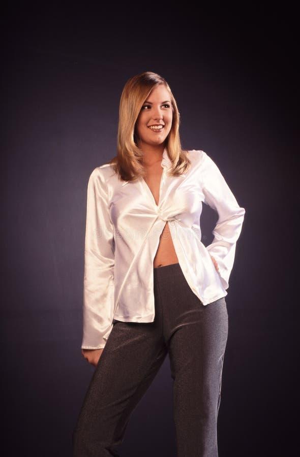 blond stående royaltyfri foto