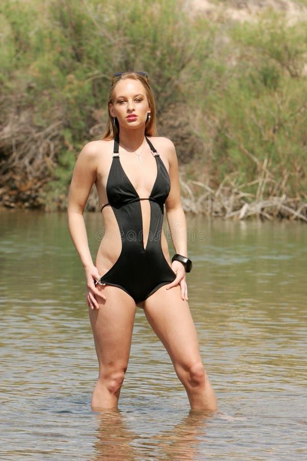 blond strój kąpielowy kobieta obrazy royalty free
