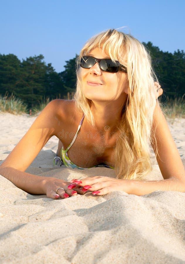 Blond strand royalty-vrije stock foto's