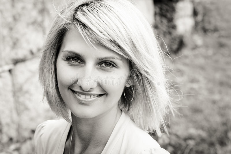 blond szczęśliwy portreta kobiety yound obrazy royalty free