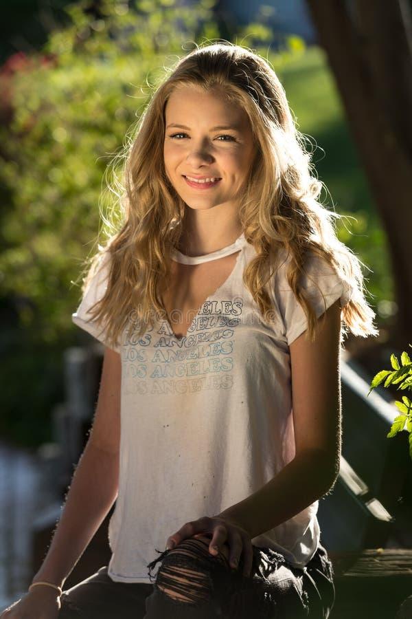 Blond teen girl