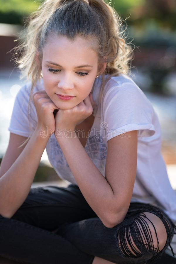 Blond Teen Hip Girl stock photography
