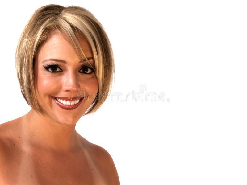 blond uśmiechnięta kobieta fotografia royalty free