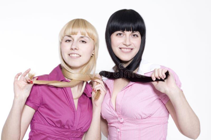 Blond und Brunette lizenzfreies stockbild