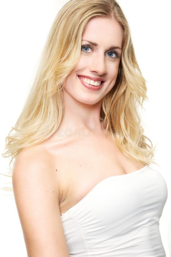 Blond und schön stockfoto