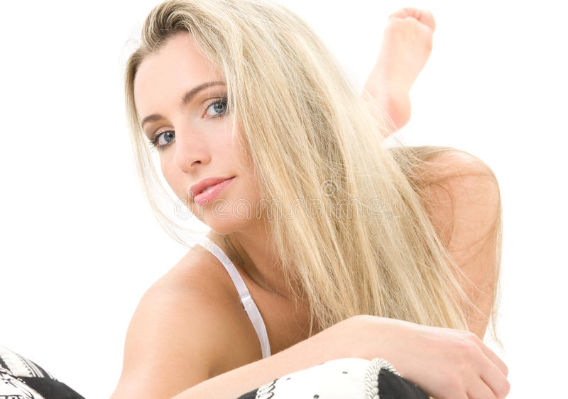 blond ustanowione obraz stock