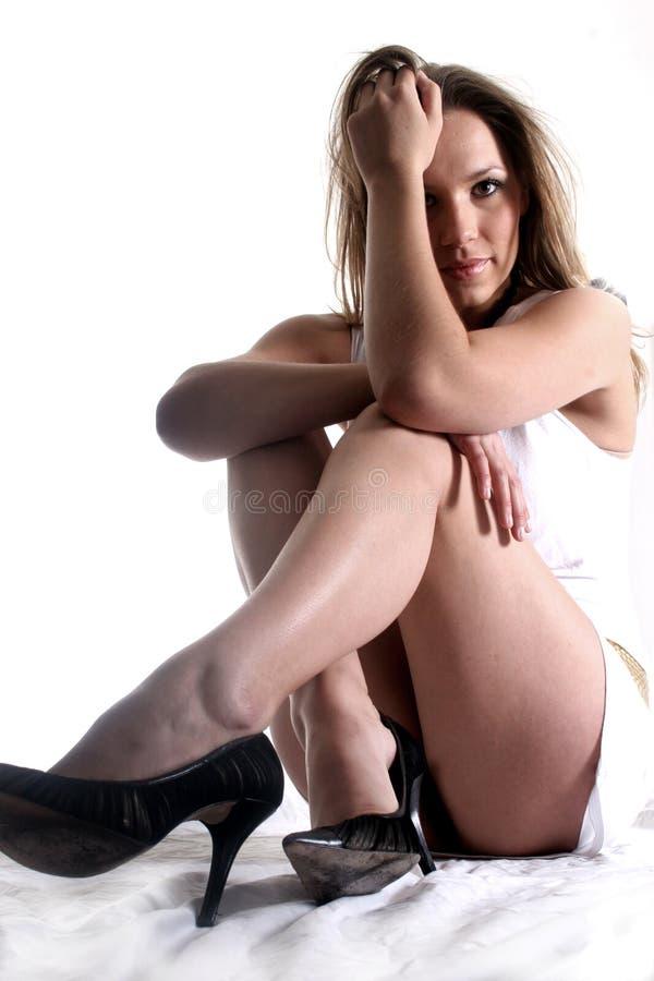 blond uwodzicielska seksownej kobiety zdjęcia stock