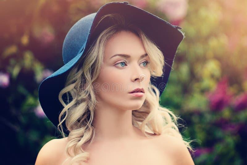 blond włosy, piękna kobieta obraz stock