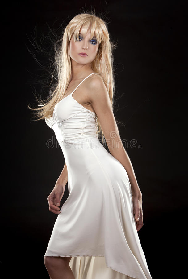 Download Blond in white dress stock image. Image of glamorous - 24402687