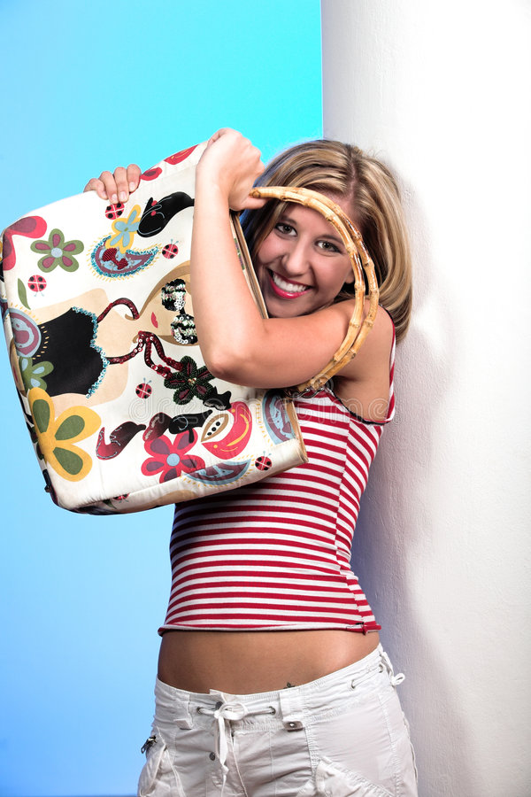 Free Blond With Bag 2 Royalty Free Stock Image - 2093936