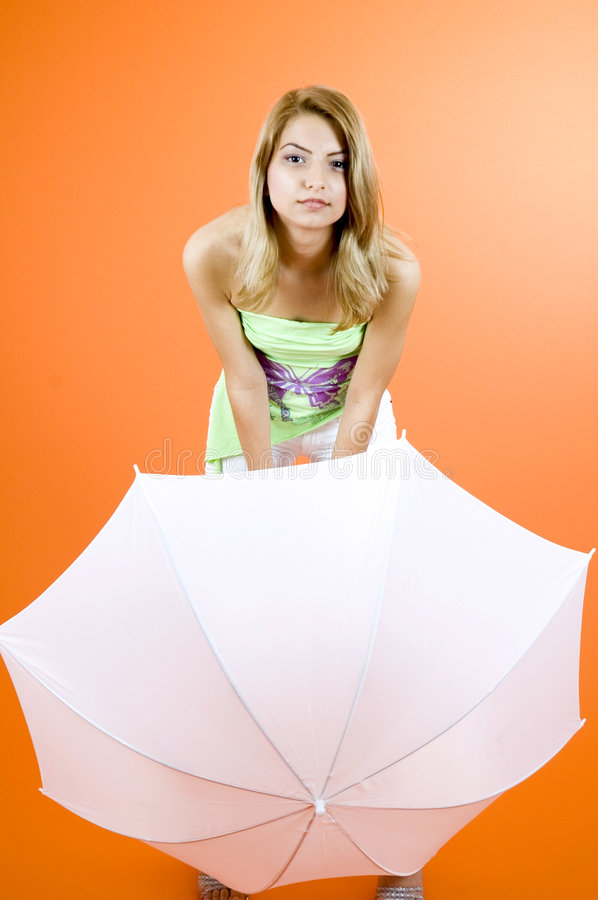 Free Blond With Umbrella Stock Images - 1342724