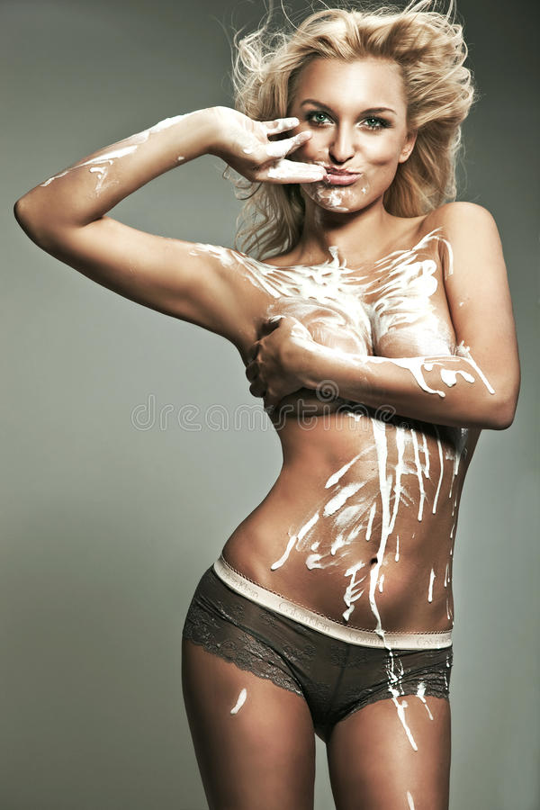 Download Blond woman stock photo. Image of nude, splash, delicate - 14227992