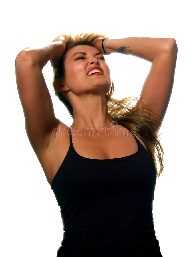 Blond Woman / Anguish stock images