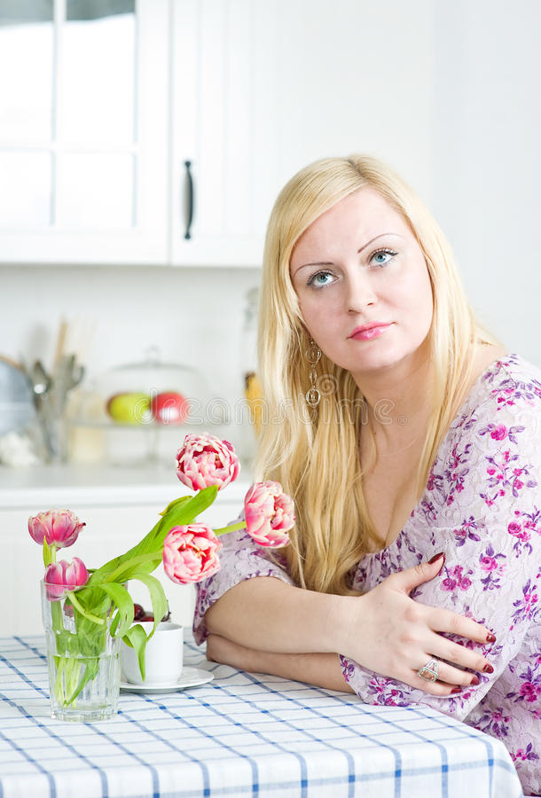 Download Blond Woman With Flowers Stock Photos - Image: 24077633