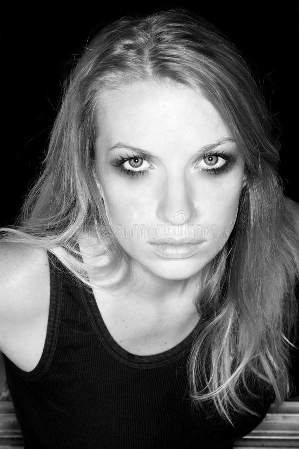 Download Blond woman glaring stock photo. Image of look, attractive - 11220006