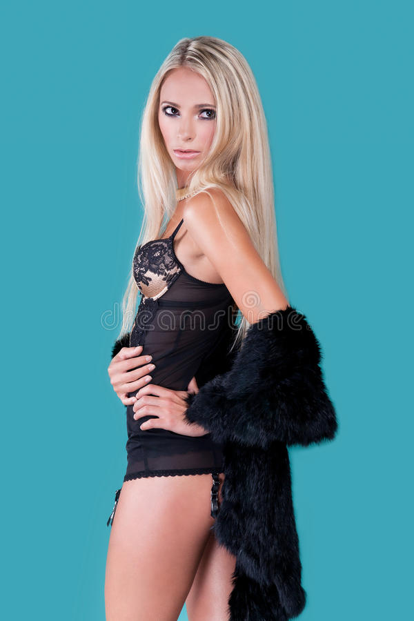 Download Blond Woman In Lingerie Royalty Free Stock Photography - Image: 27131667