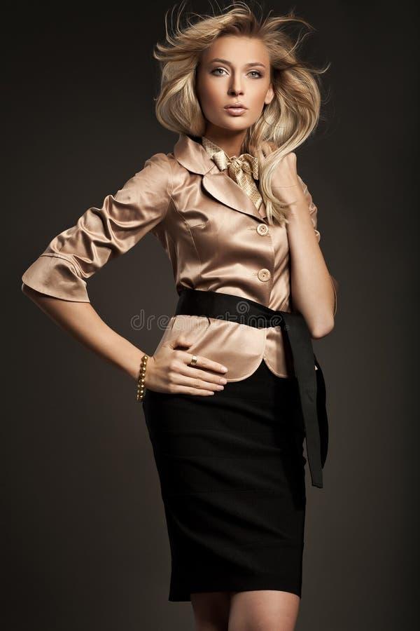 Blond woman posing royalty free stock photo