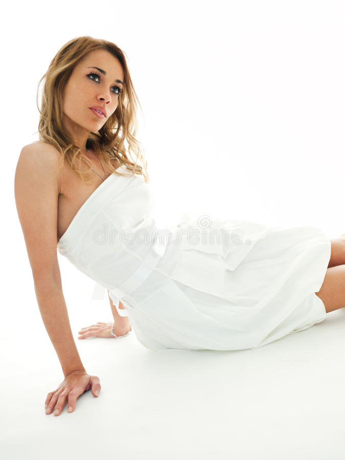 Download Blond Woman In White Clothes Royalty Free Stock Photo - Image: 13277805
