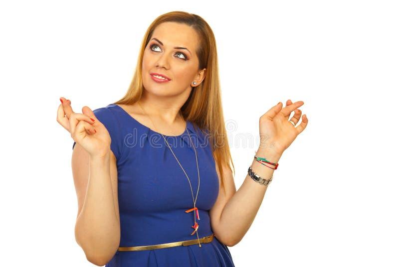 Download Blond Woman Wishing Something Stock Images - Image: 24164904