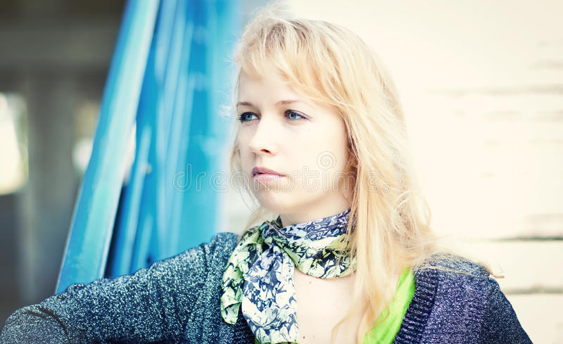 Download Blond women in city stock photo. Image of hair, concepts - 25122696