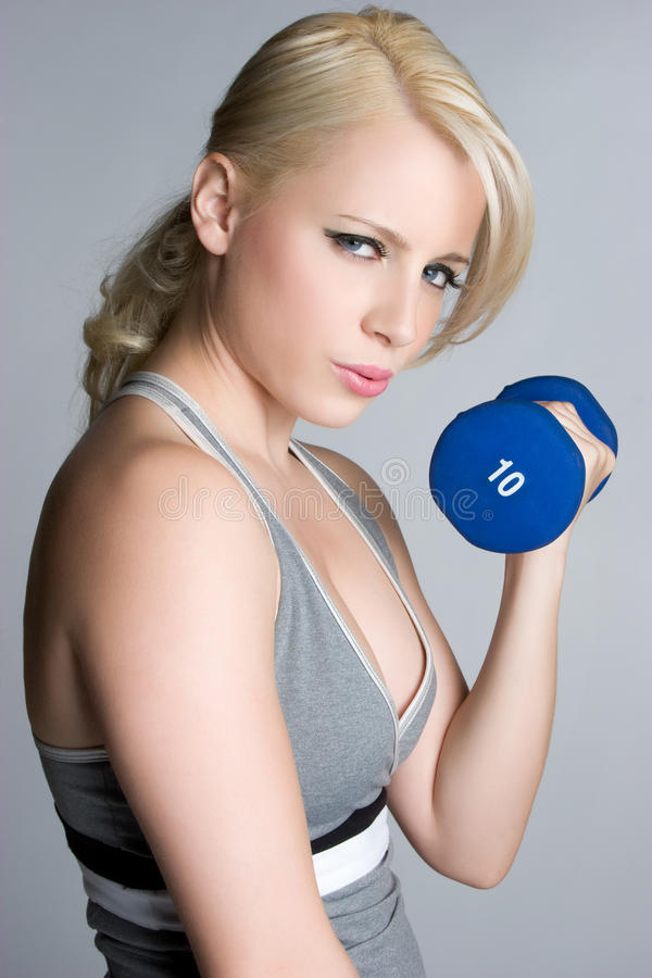 Blond Workout Girl royalty free stock photography