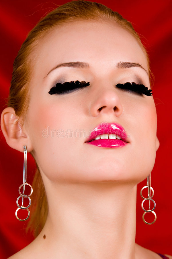Download Blond Young Woman With Big Eyelashes Stock Photo - Image: 8870732