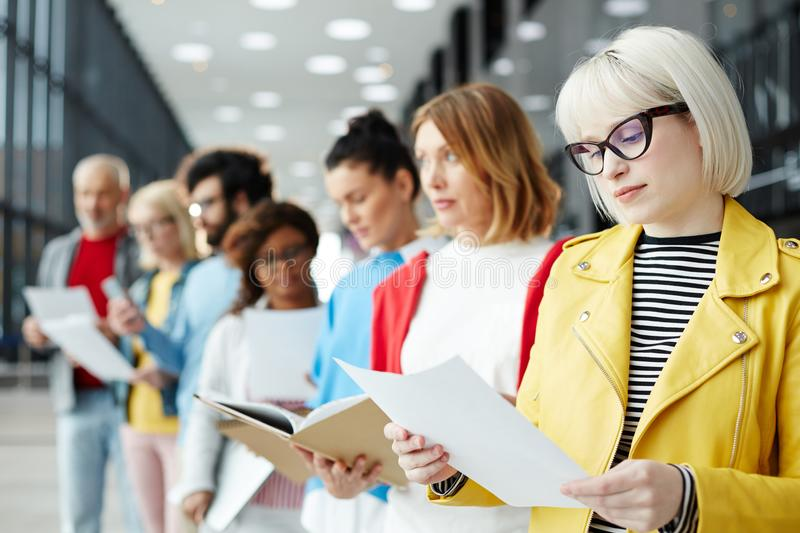 Reading resume stock images