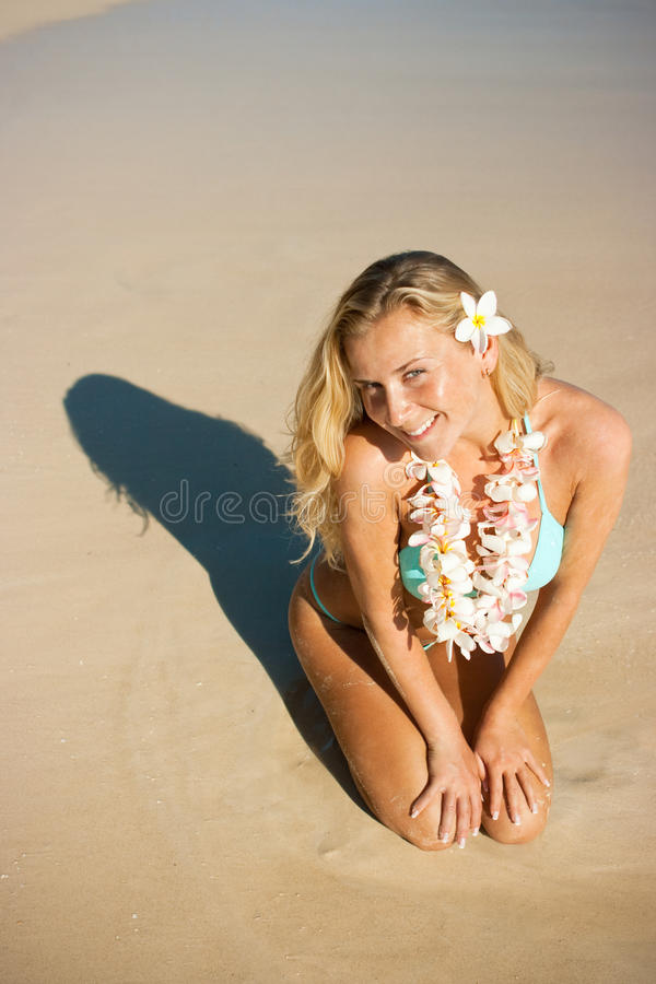 blonda hawaii royaltyfria bilder