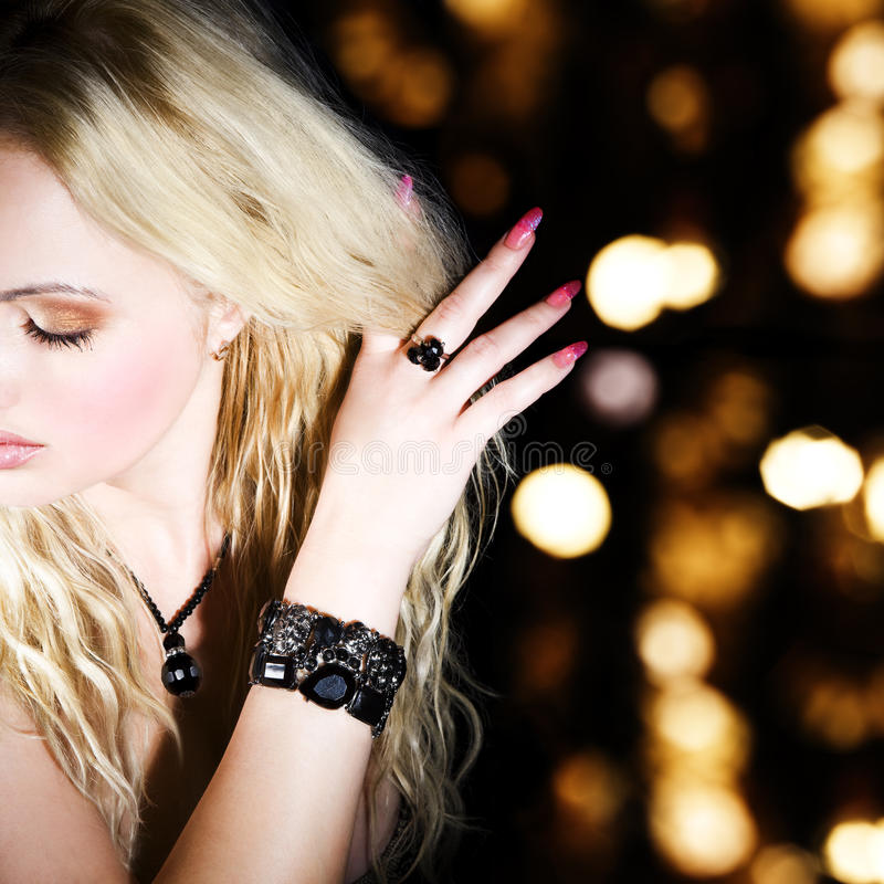 Download Blonde stock image. Image of lady, girl, hand, ring, beauty - 10944955