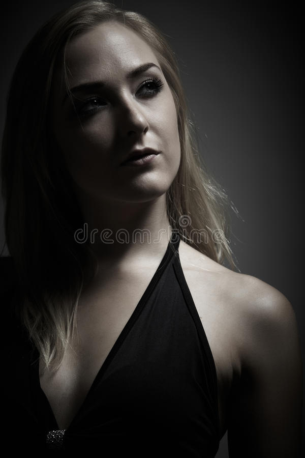 Blonde adult woman royalty free stock images