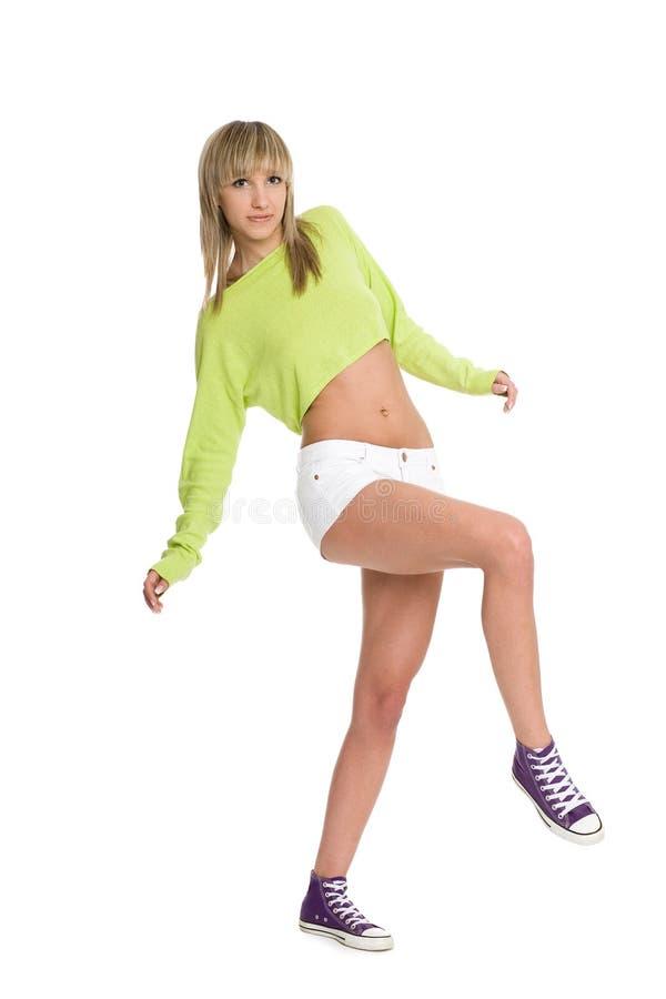 Blonde allegro della ragazza immagine stock