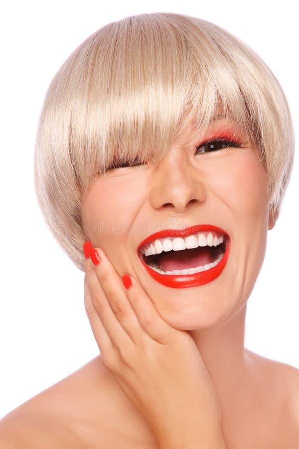 Blonde asiático imagen de archivo