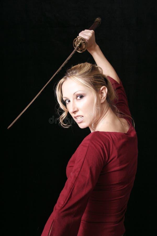 Blonde Assassin stock photos