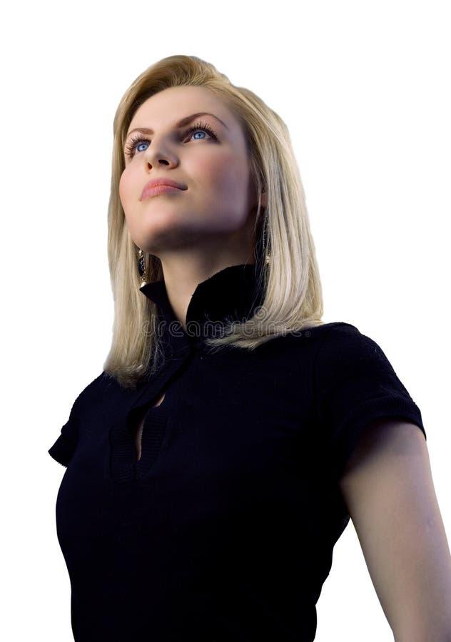 Blonde atrativo isolado imagem de stock