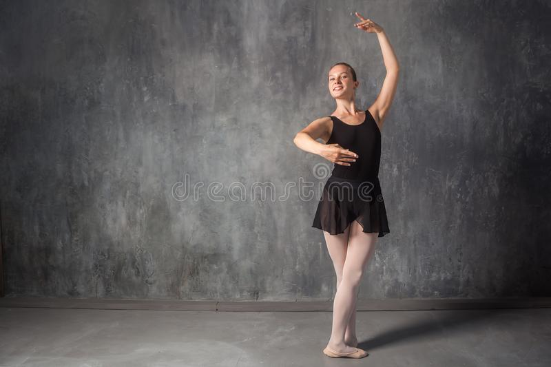 Blonde ballet dancer stock photography