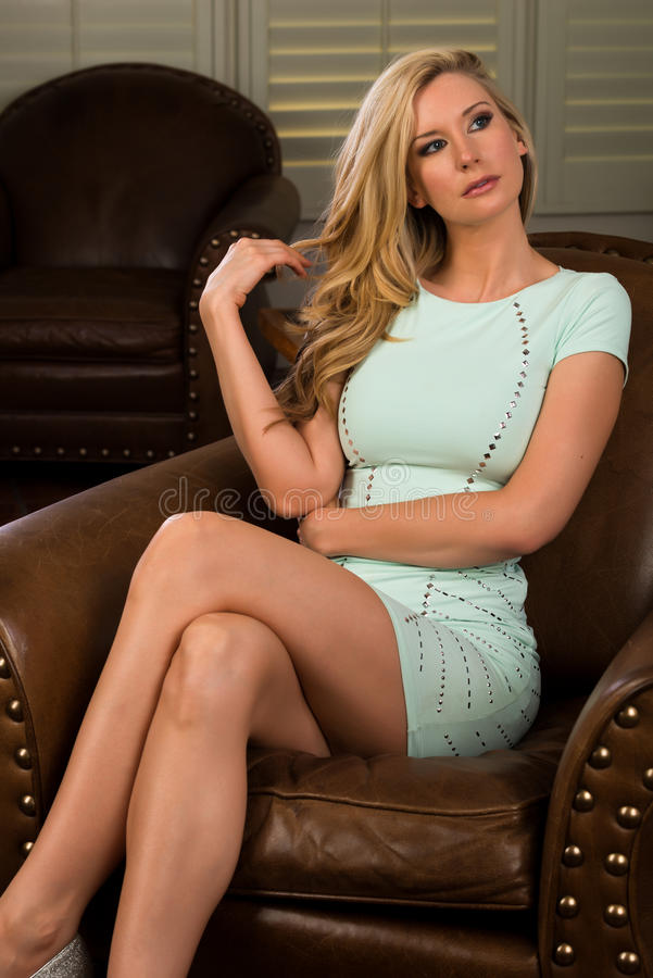 Download Blonde stock image. Image of blond, tall, dress, armchair - 35841011