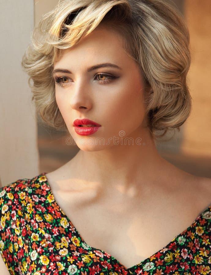 blonde beauty stock photography