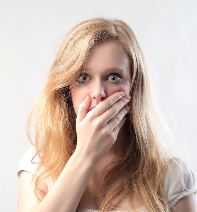 Download Blonde Beauty Amazed stock image. Image of error, woman - 26569259