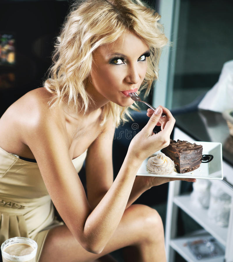 Download Blonde Beauty On A Lunch Break Stock Photo - Image: 24835466