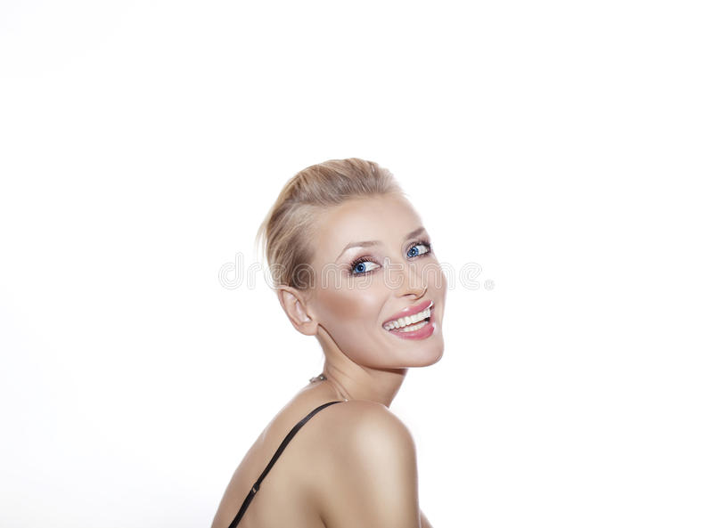 Download Blonde Beauty Posing With Toothy Smile. Stock Image - Image: 37251325