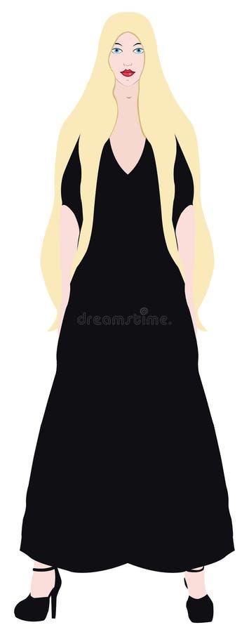 Download Blonde In A Black Dress Stock Image - Image: 33882171
