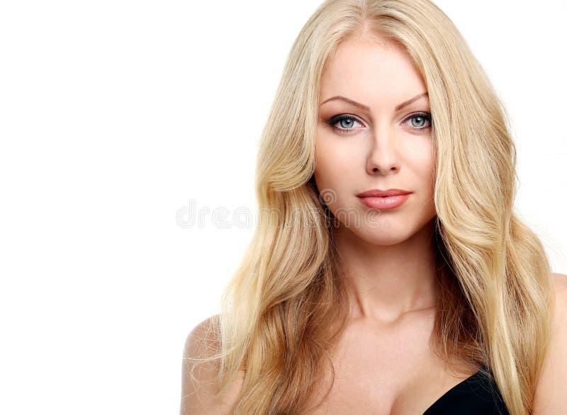 blonde bonito com cabelo curly imagens de stock royalty free