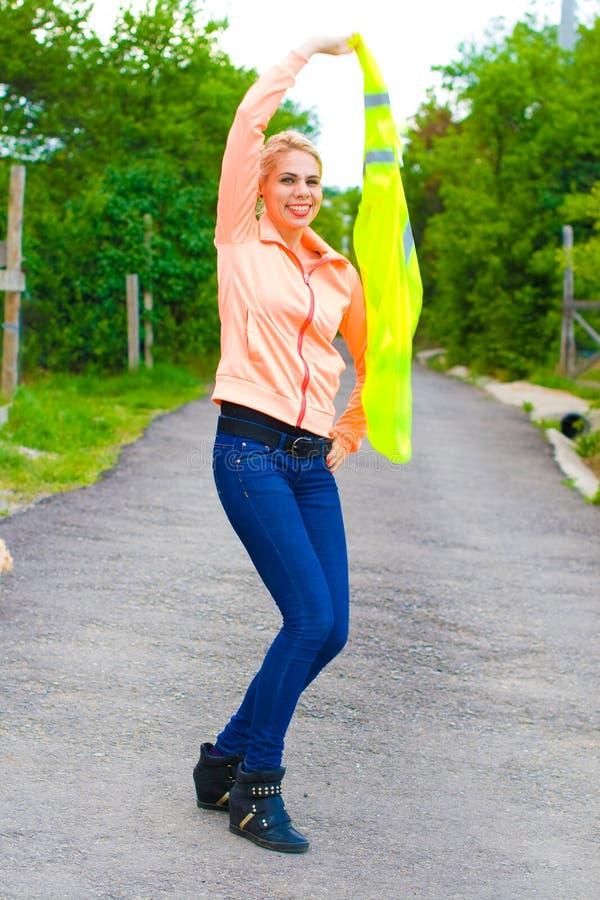 Blonde bouwvakker royalty-vrije stock afbeelding