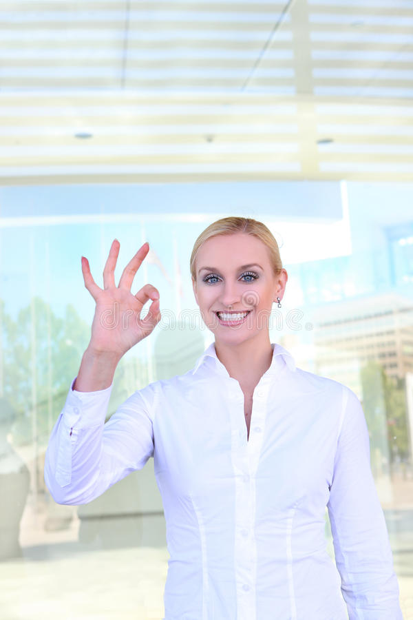Blonde Business Woman Stock Photography