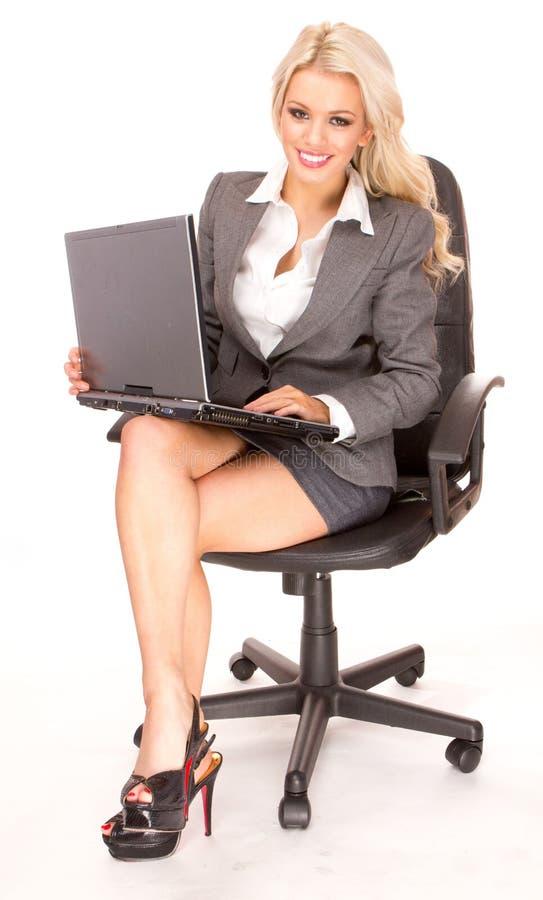 Blonde businesswoman stock photography