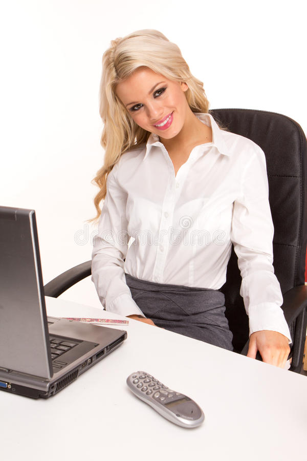 Blonde businesswoman stock image