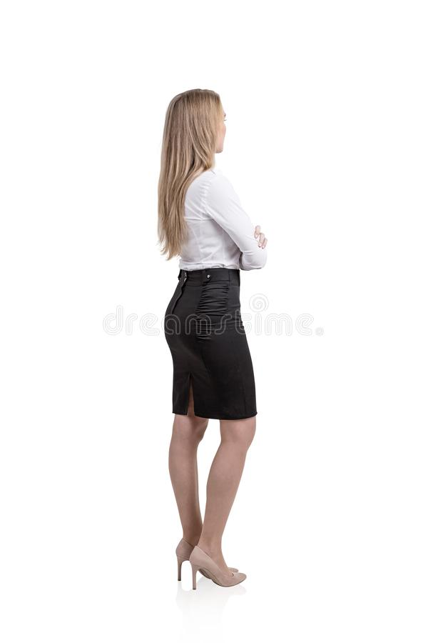 Blonde businesswoman isolated portrait royalty free stock photo