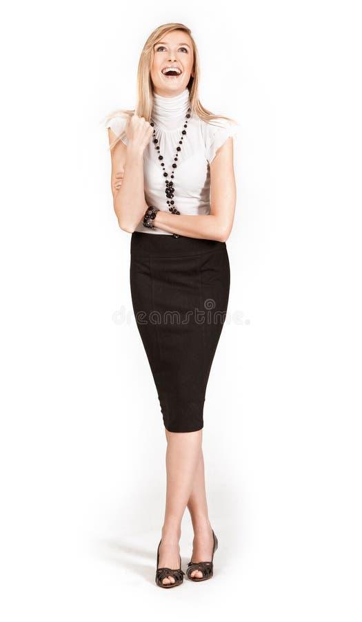 blonde businesswoman smiling στοκ φωτογραφία με δικαίωμα ελεύθερης χρήσης