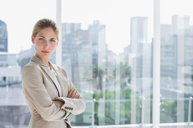 Download Blonde Businesswoman Standing With Arms Crossed Stock Image - Image: 31447123