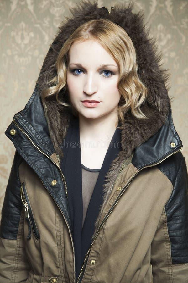 blonde clothes girl winter στοκ εικόνες